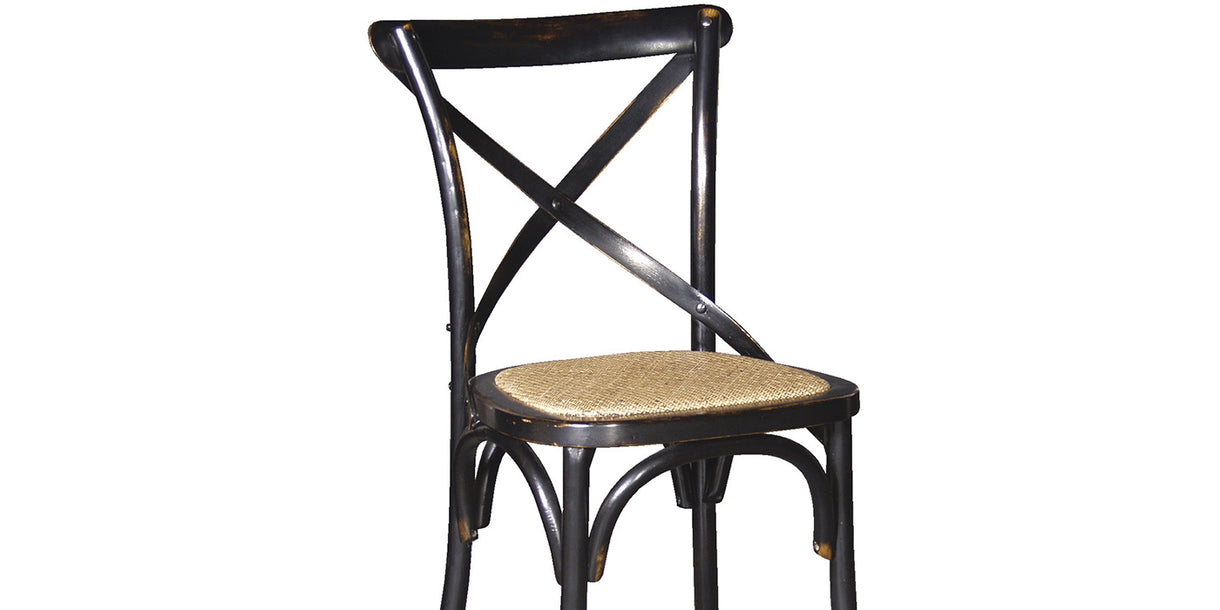 Belle Noir Cross Back Dining Chair banner