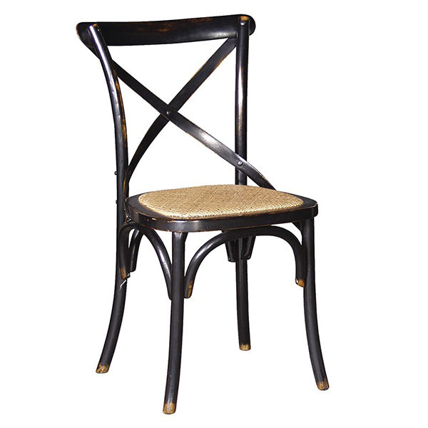 Belle Noir Cross Back Dining Chair