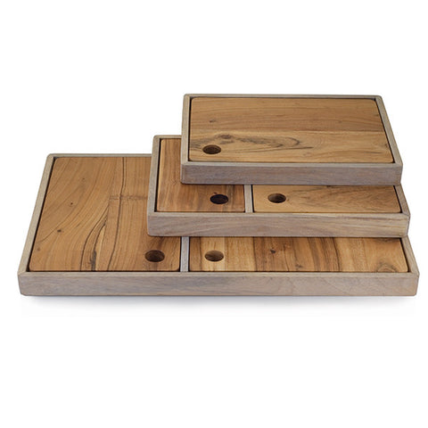 Deli Wooden Board and Tray Set