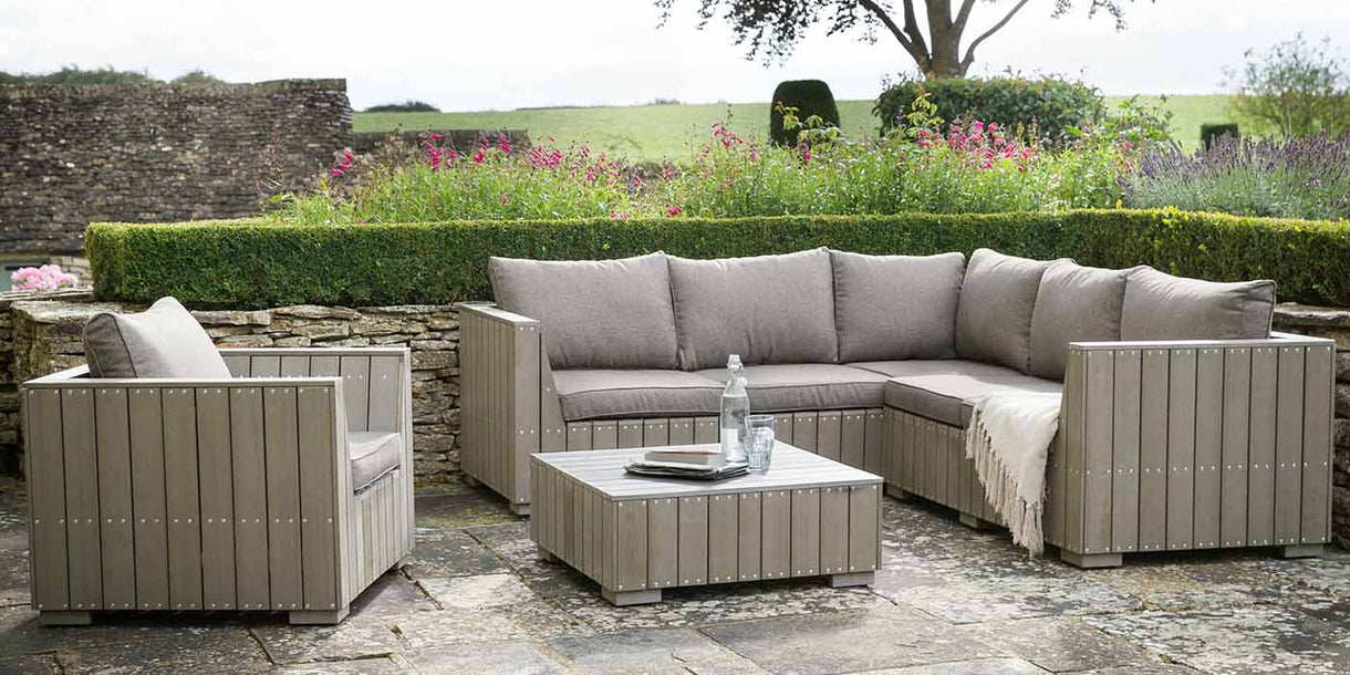 Bosham Garden Corner Sofa Set with Armchair