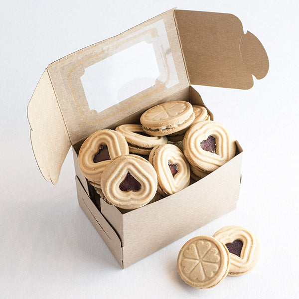Open Cardboard Box of Cookies