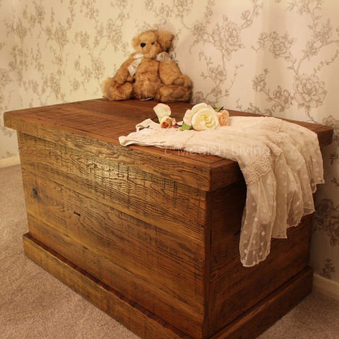Bremnes Reclaimed Wooden Toy Box & Blanket Box