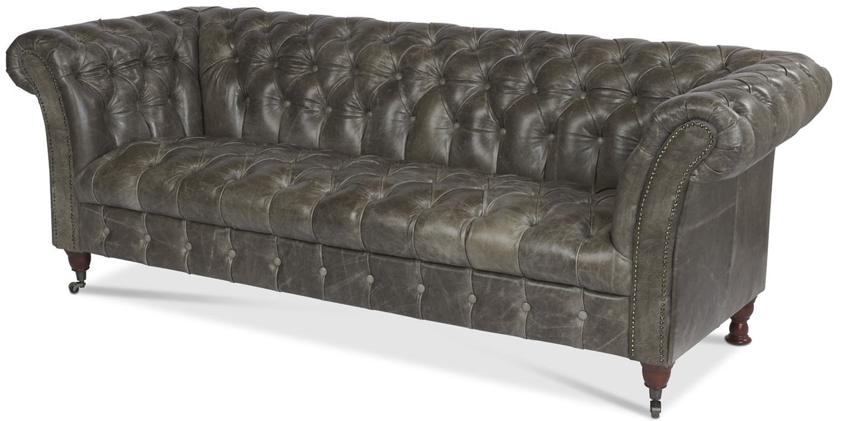 Bretby Leather Chesterfield Sofa