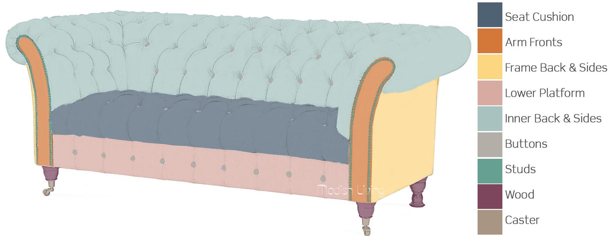 Charlie Leather Chesterfield Sofa Bespoke Options