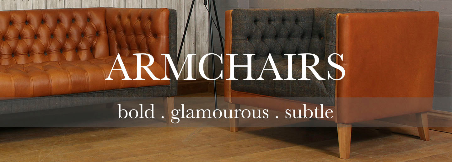 Bristol Leather and Harris Tweed Armchair