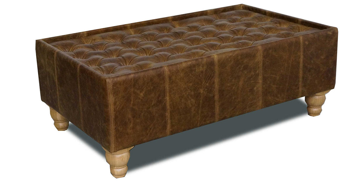 Brown Cerato Leather Coffee Table