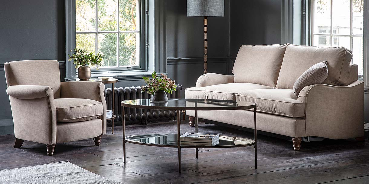 Brunswick Fabric Sofa Bed and Armchair