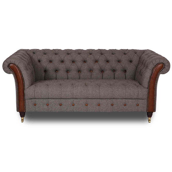 Chester Club Wool and Leather Sofa