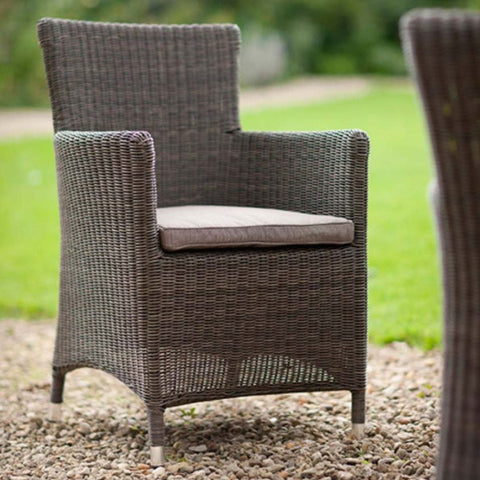 Chilgrove PE Rattan Garden Chair with Cushion for Outdoors