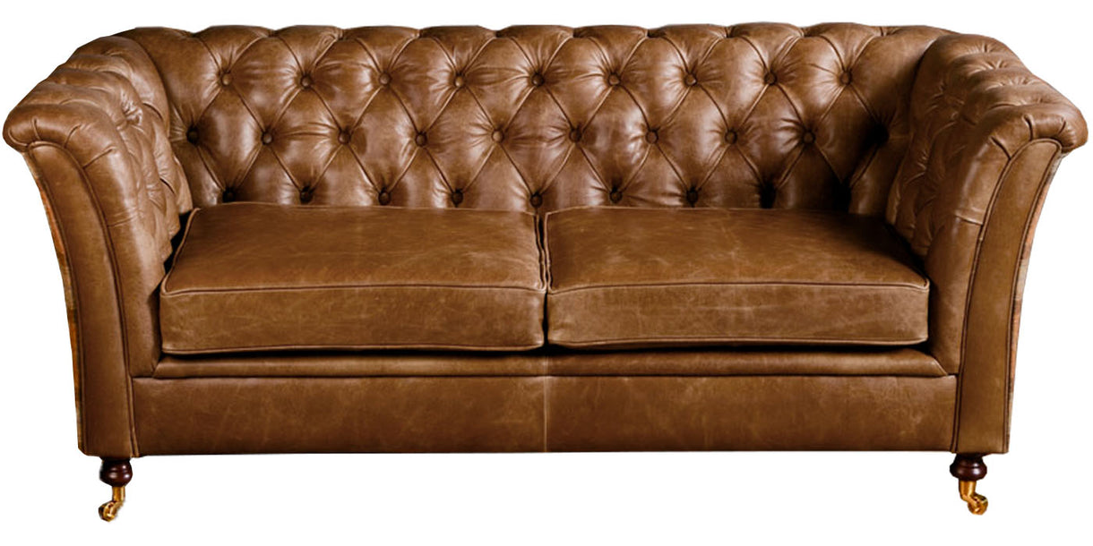 Caesar Chesterfield Sofa in Brown Cerato
