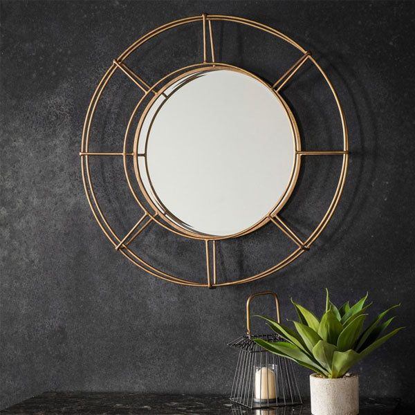 Cara Wall Round Mirror
