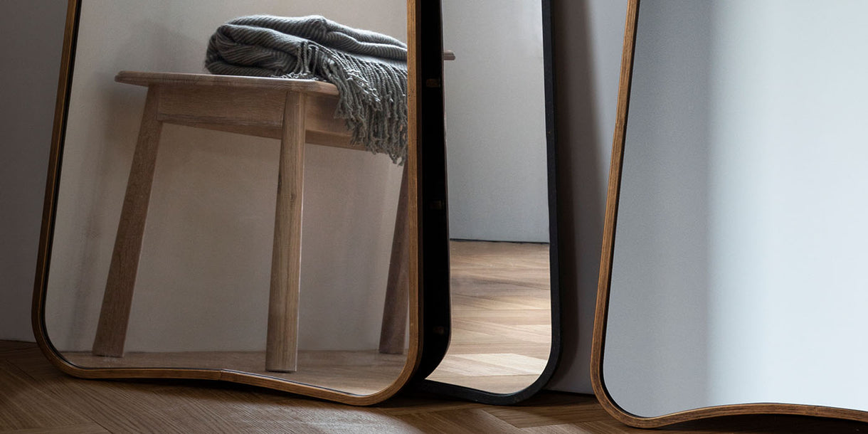 Casey Floor Standing Mirror in a room