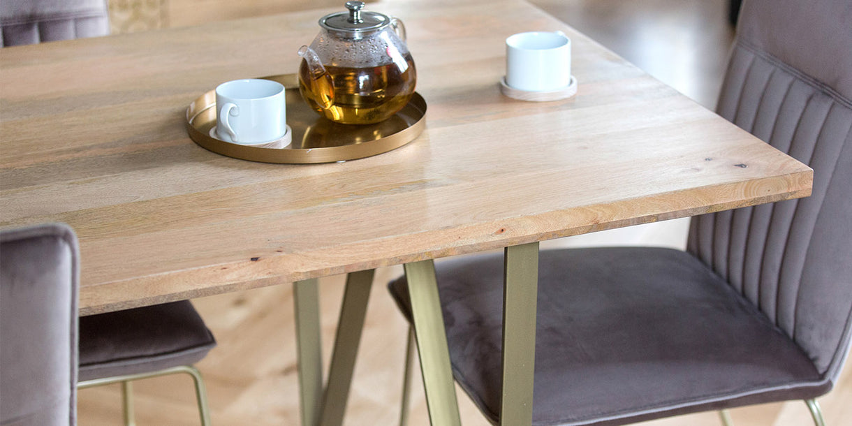 Chalfont Industrial Wood Dining Table Top