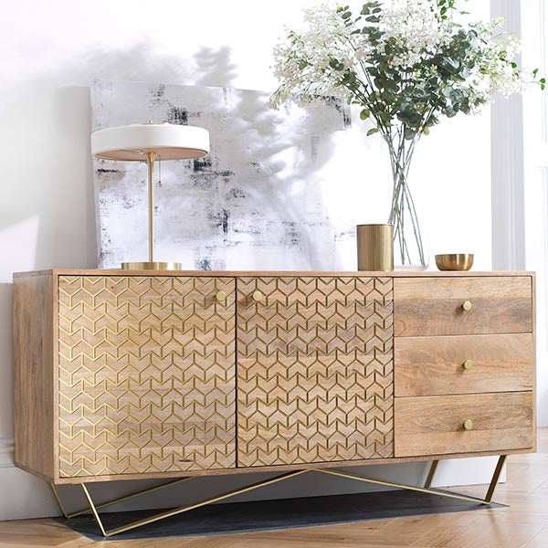 Chalfont Industrial Wood Sideboard