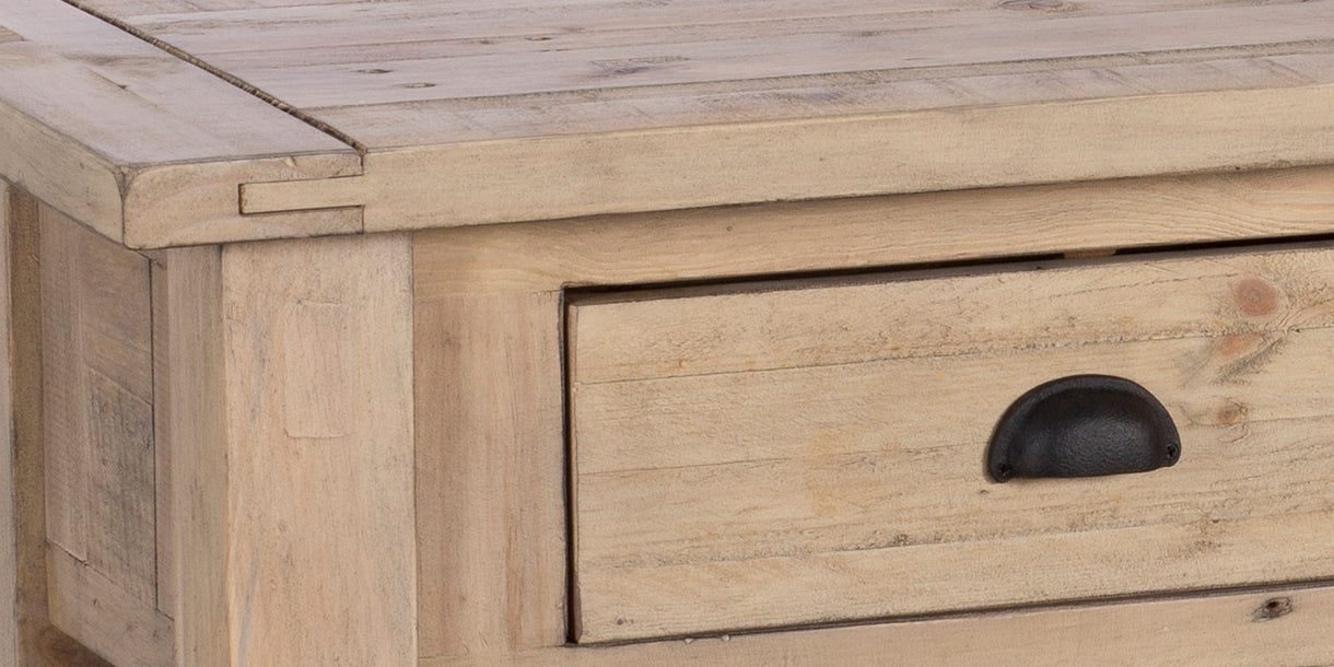 Chelwood Reclaimed Wood Console Table Close up