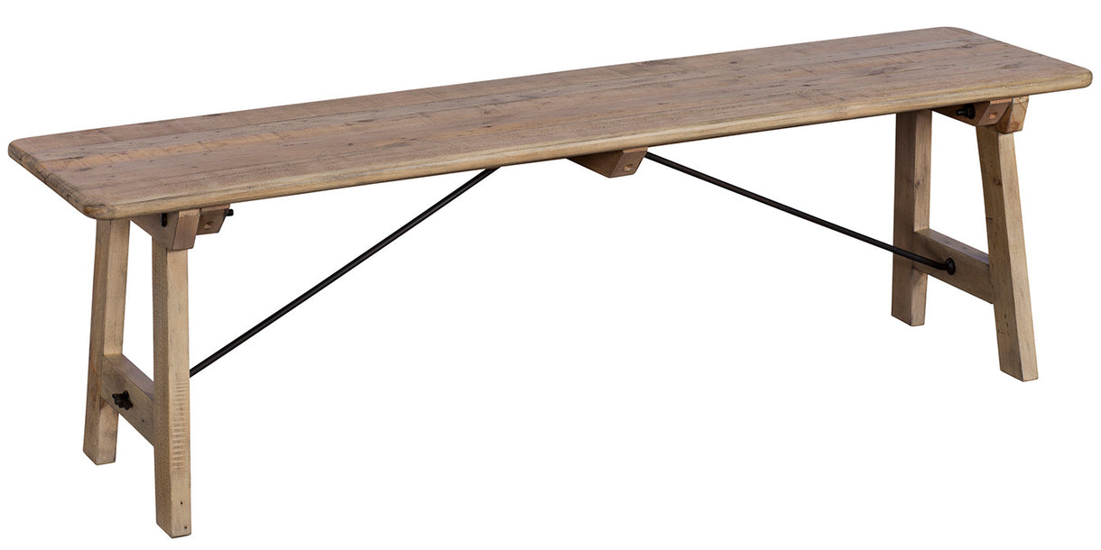 Chelwood Reclaimed Wood Dining Bench Cutout