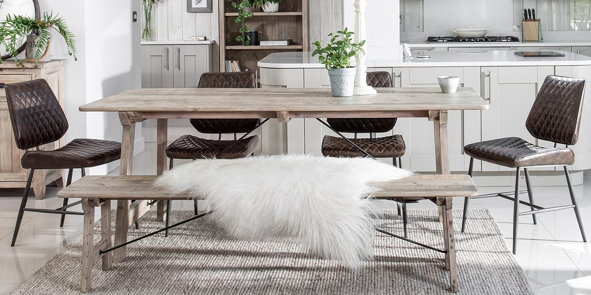 Chelwood Reclaimed Wood Dining Table in Dining Room