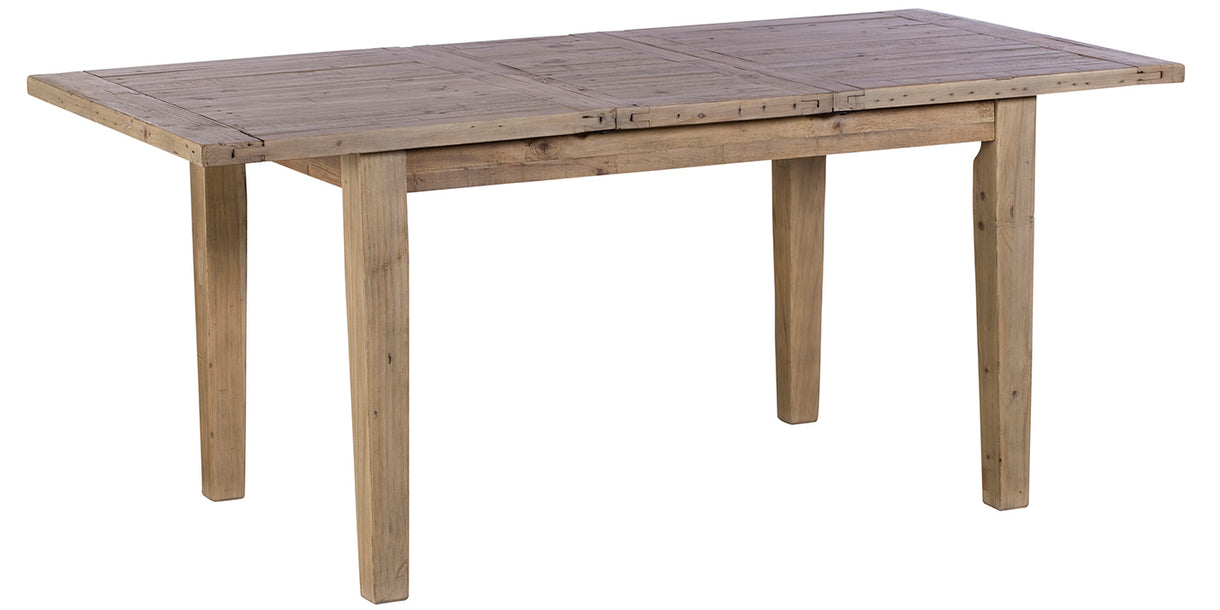 Chelwood Reclaimed Wood Extendable Dining Table Extended