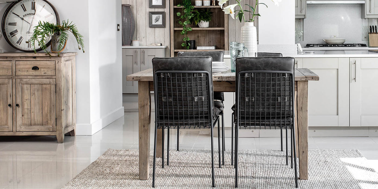 Chelwood Reclaimed Wood Extending Dining Set with Chairs