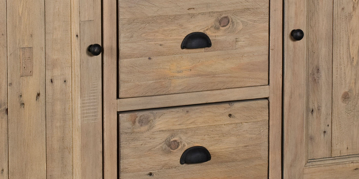 Chelwood Reclaimed Wood Dresser Close up