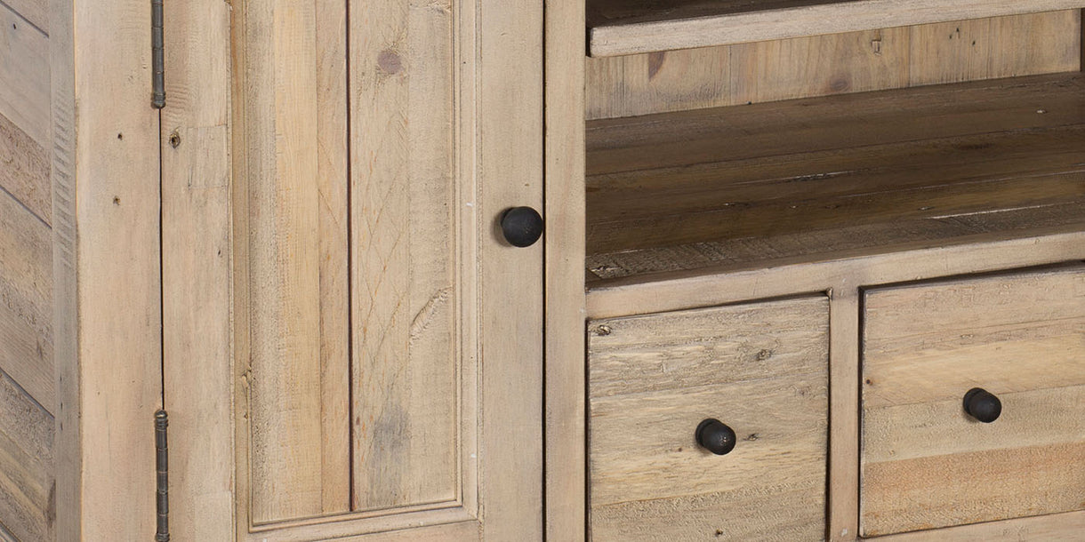 Chelwood Reclaimed Wood TV Unit Close up