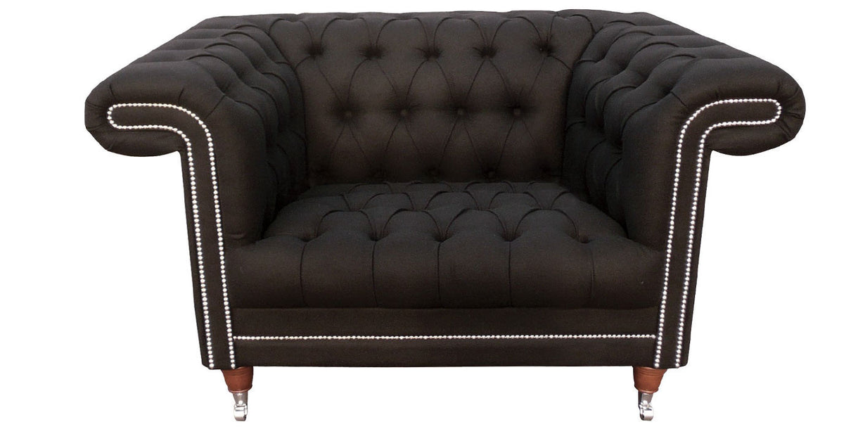 Chester Lounge Club Wool Armchair