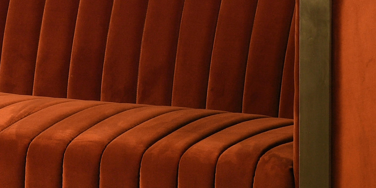 Chestey Velvet Sofa Close up