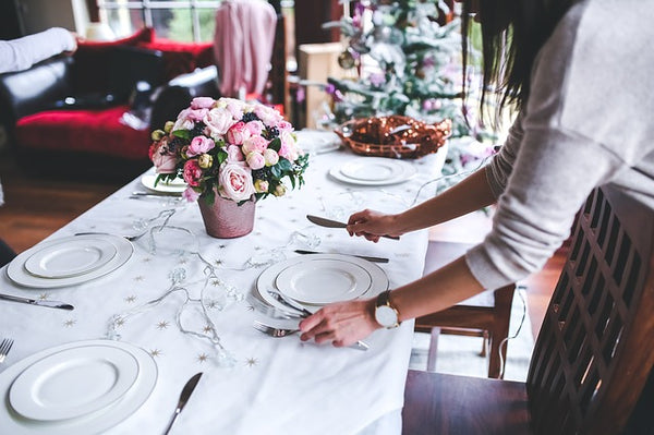 Christmas Table Setting plan