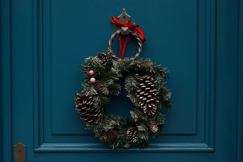 christmas wreath on your door