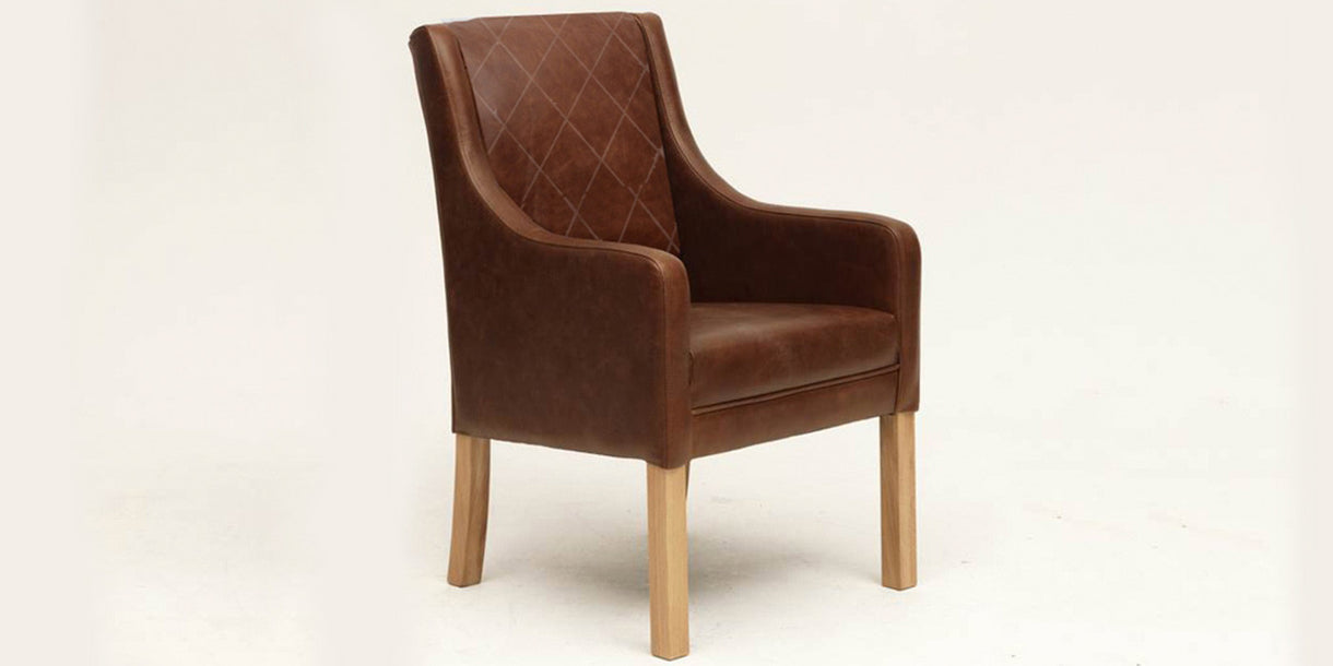 Clipstone Cerato Brown Leather Dining Chair