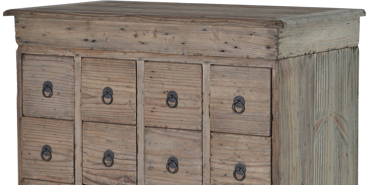 Colette Reclaimed Wood 20 Drawer Chest detail