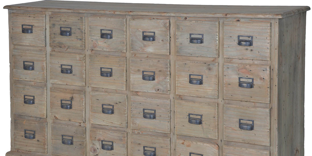 Colette Reclaimed Wood 24 Drawer Chest