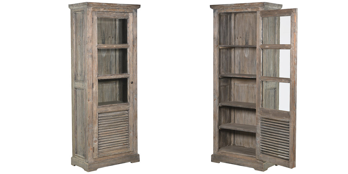 Colette Reclaimed Wood Glazed Bookcases