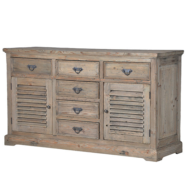 Colette Reclaimed Wood Louvred Sideboard