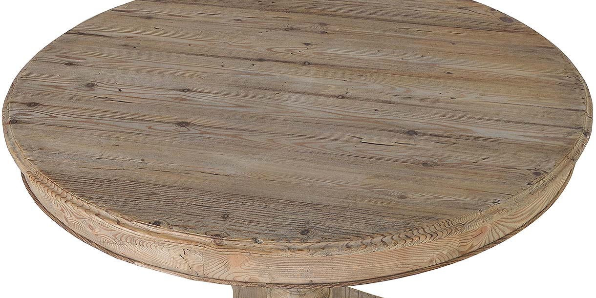 Colette Reclaimed Wood Round Dining Table Top