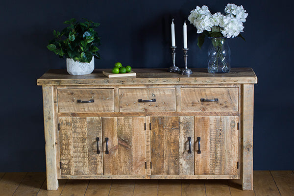 English Beam Reclaimed Wood Sideboard with Drawers