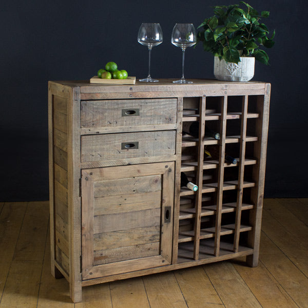 Cotswold Reclaimed Wood Wine Rack