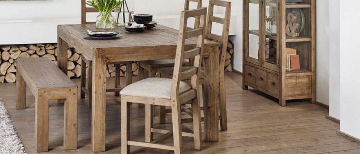 Cotswold Reclaimed Wood Dining Bench Table and Chairs