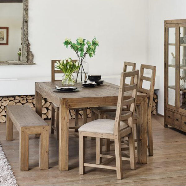 Cotswold Reclaimed Wood Dining Table in Dining Room