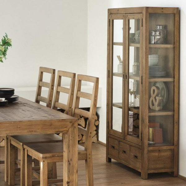 Cotswold Reclaimed Wood Display Cabinet