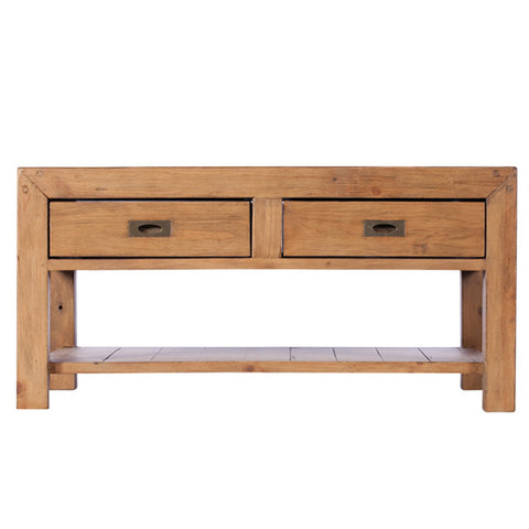 cotswold reclaimed wood coffee table with storage for small living room