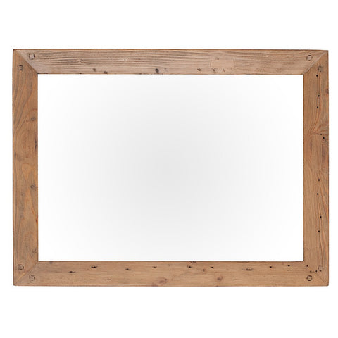 Cotswold Reclaimed Wood Wall Mirror for small living room