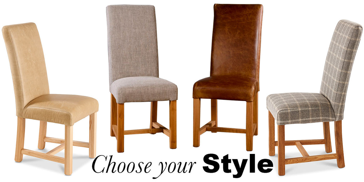 Baby Straight Back Leather Dining Chairs bespoke