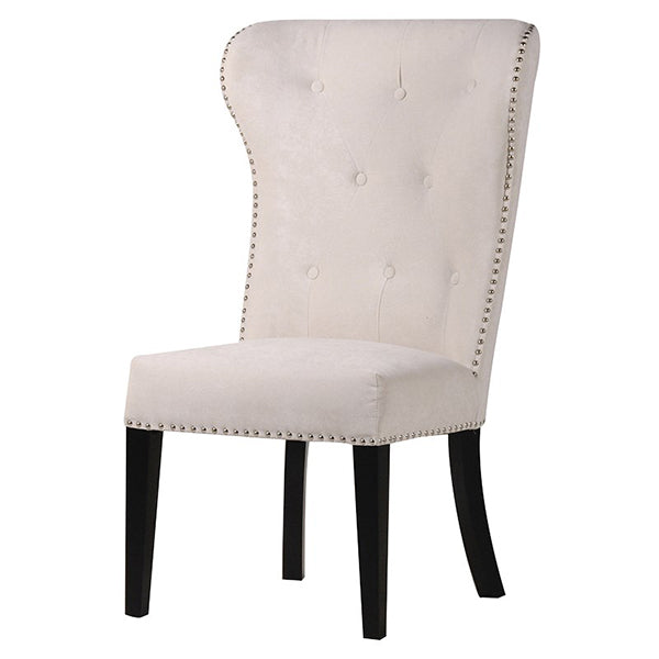Cream Dining Chair With Lion Knocker