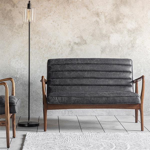 Dagmar Grey Leather sofa