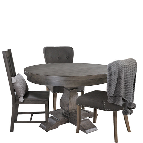 Dakota Round Reclaimed Wood Dining Table
