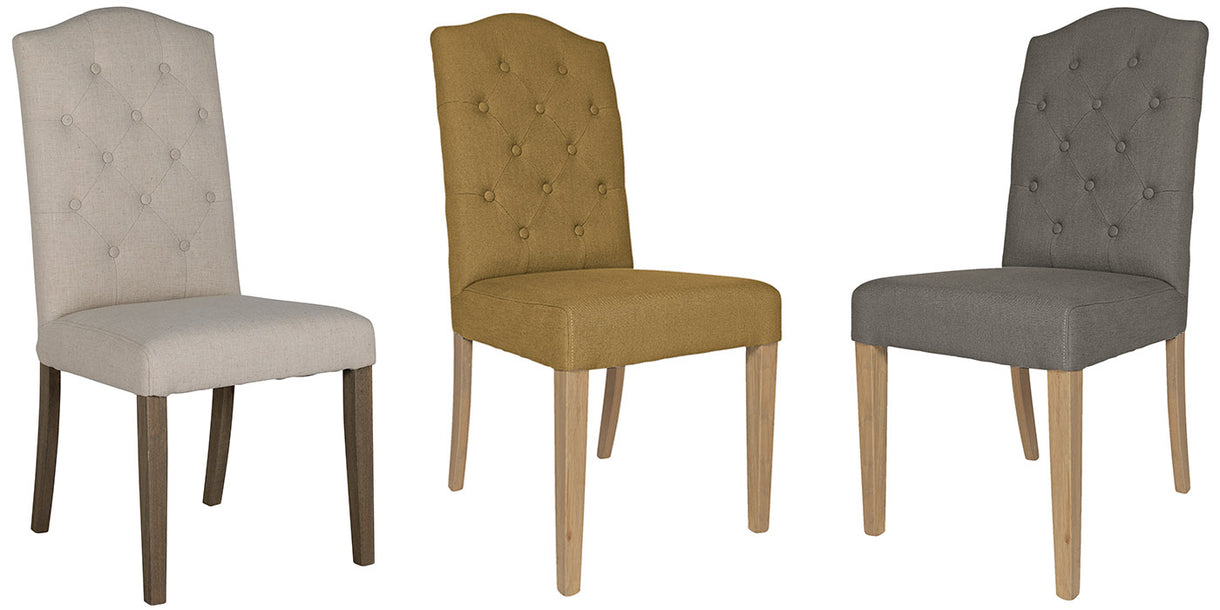 Daling Cream Upholstered Dining Chairs