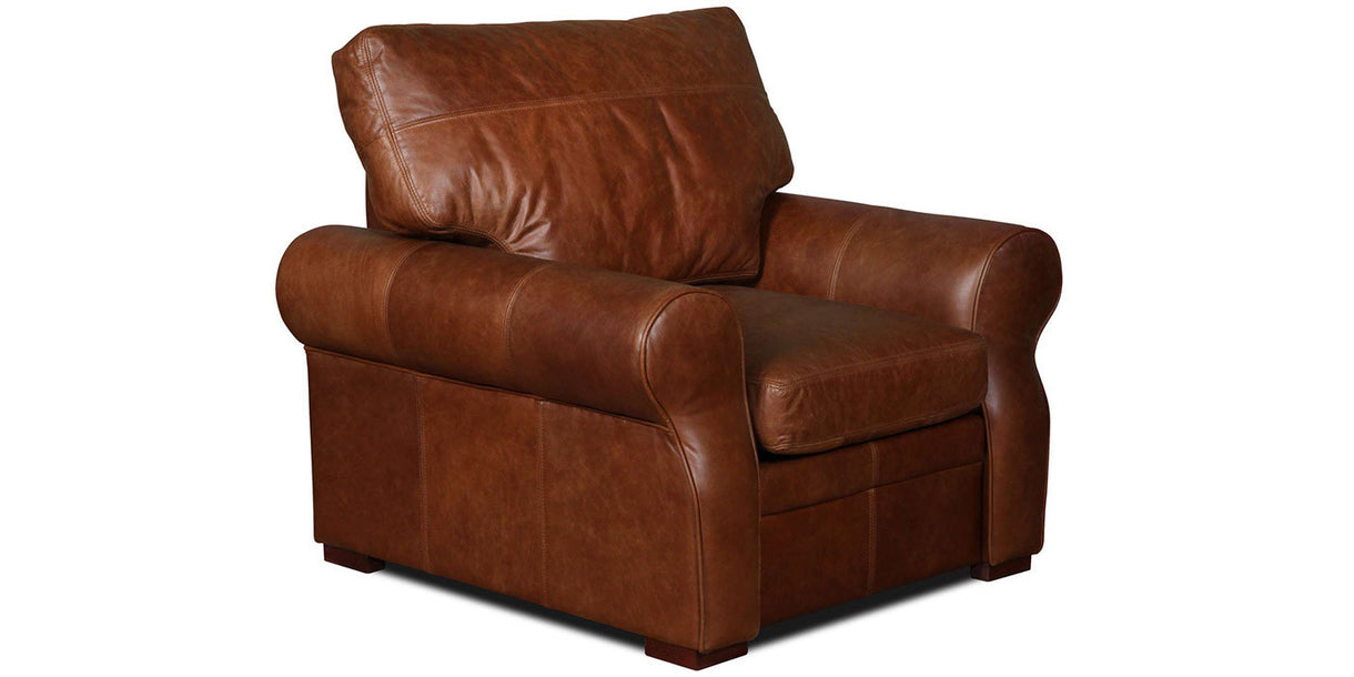 Darlton Cerato Brown Leather Armchair