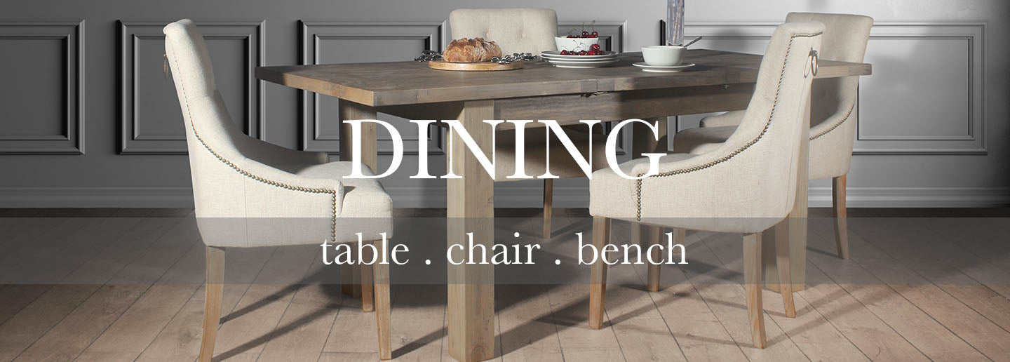 Farringdon Reclaimed Wood Dining Table with Florence Dining Chairs