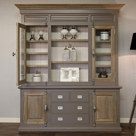 Display Unit with Silver Handles